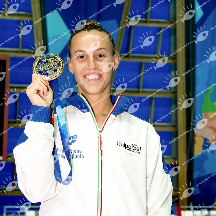 CAGNOTTO Tania ITA Gold Medal<br /> Diving tuffi 1 m. springboard women final<br /> Aquatic Palace<br /> Day05 28/07/2015<br /> XVI FINA World Championships Aquatics <br /> Kazan Tatarstan RUS July 24 - Aug. 9 2015 <br /> Photo G.Scala/Deepbluemedia/Insidefoto