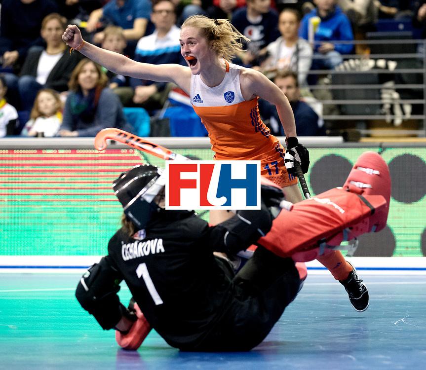 BERLIN - Indoor Hockey World Cup<br /> Quarterfinal 4: Netherlands - Czech Republic<br /> foto: Elin van Erk.<br /> WORLDSPORTPICS COPYRIGHT FRANK UIJLENBROEK