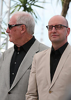 Producer Jerry Weintraub and Director Steven Soderbergh at the 'Behind The Candelabra' film photocall at the Cannes Film Festival  Tuesday 21 May 2013