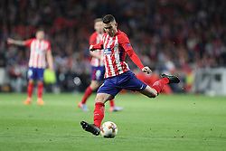 May 3, 2018 - Madrid, Spain - LUCAS HERNANDEZ of Atletico de Madrid during the UEFA Europa League, semi final, 2nd leg football match between Atletico de Madrid and Arsenal FC on May 3, 2018 at Metropolitano stadium in Madrid, Spain (Credit Image: © Manuel Blondeau via ZUMA Wire)