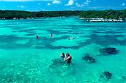 MEXICO, YUCATAN, TOURISM Riviera Maya; Xelha Lagoon Nat. Park