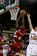 24 November 2005:Junior forward Brandon Wallace (33) from the University of South Carolina goes up for an easy two points in the Gamecock's 65 - 60 victory over the University of Alaska Anchorage Seawolves in the first round of the Great Alaska Shootout at the Sullivan Arena in Anchorage Alaska.
