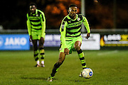 Forest Green Rovers Ethan Pinnock(16) on th ball during the FA Trophy match between Truro City and Forest Green Rovers at Treyew Road, Truro, United Kingdom on 13 December 2016. Photo by Shane Healey.