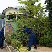 "Burundian police dismantle the improvised camp of the university students seeking shelter outside the US embassy in Bujumbura, minutes after hundreds of students storm the embassy grounds seeking refuge. The students moved to the area in early May because, they claim, the US authorities ensure their security, after their university was closed amid anti-government protests. The government closed the university at the end of April, citing ""insecurity""."