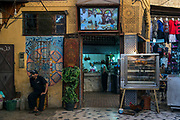 A cafe inside the ancient medinah of Fes