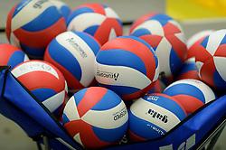 29-12-2014 NED: Eurosped Volleybal Experience Nederland - Belgie -19, Almelo<br /> Nederland verliest met 3-2 van Belgie / Ballen Eurosped, Gala