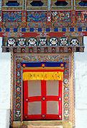 Decorated and decorative doorway, Ugyen Pelri Palace, Paro, Bhutan