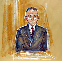 ©PRISCILLA COLEMAN (ITN ARTIST)..PIC SHOWS: ARTIST IMPRESSION OF BARRY CARMEL ACCOUNTANT FOR LORD ARCHER AT THE OLD BAILEY TODAY 28.06.01 WHERE HE GAVE EVIDENCE IN THE  LIBEL CASE..PIC BY STEVE MAISEY