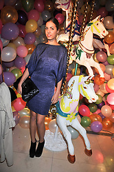 Model AMBER LE BON at a party hosted by Mulberry during London fashion Week 2009 at Claridge's Hotel, Brook Street, London on 20th September 2009.