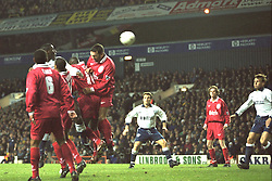 London, England - Monday, December 2, 1996: Liverpool's Neil Ruddock in action during the 2-0 Premier League victory over Tottenham Hotspur at White Hart Lane. (Pic by David Rawcliffe/Propaganda)