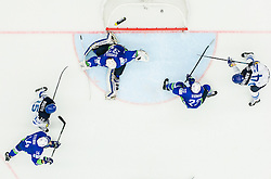 Joonas Kemppainen of Finland scoring fourth goal against Gasper Kroselj of Slovenia and Luka Vidmar of Slovenia during Ice Hockey match between Finland and Slovenia at Day 7 in Group B of 2015 IIHF World Championship, on May 7, 2015 in CEZ Arena, Ostrava, Czech Republic. Photo by Vid Ponikvar / Sportida