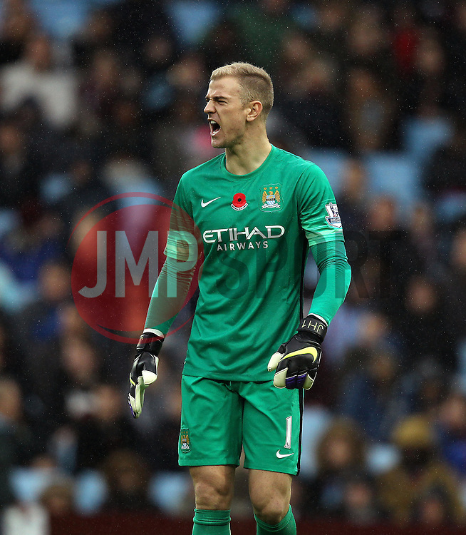 Manchester City's Joe Hart - Mandatory byline: Robbie Stephenson/JMP - 07966 386802 - 08/11/2015 - FOOTBALL - Villa Park - Birmingham, England - Aston Villa v Manchester City - Barclays Premier League