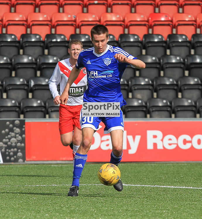 Airdrieonians V Peterhead  Scottish League One 29 August 2015;  Peterhead's Cammy Kerr during the Airdrieonians V Peterhead Ladbrokes Scottish League One match played at Excelsior Stadium, Airdrie.