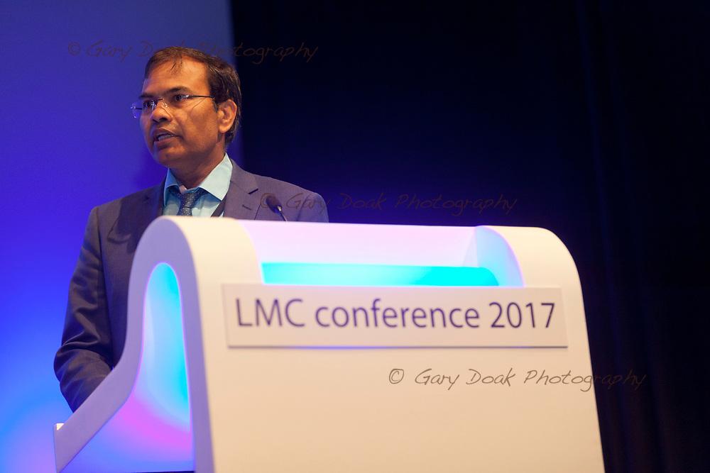 Sahadev Swain<br /> BMA LMC's Conference<br /> EICC, Edinburgh<br /> <br /> 18th May 2017<br /> <br /> Picture by Gary Doak