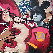 LISBON, Portugal - Samples of graffiti and street art on the streets of Lisbon, Portugal.