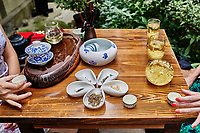 tea ceremony in Du Fu thatched Cottage in Chengdu Sichuan China