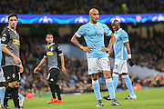 Manchester City midfielder Fabian Delph  during the Champions League match between Manchester City and Borussia Monchengladbach at the Etihad Stadium, Manchester, England on 8 December 2015. Photo by Simon Davies.