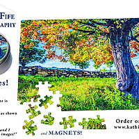 New!! Kathie Fife Photography magnets and puzzles available to our customers.  All images are captured by Kathie Fife.  <br />