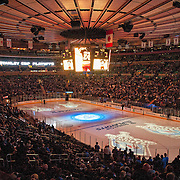 April 12, 2012:  Madison Square Garden prior to the start of game 1 between the New York Rangers and the Ottawa Senators during the Eastern Conference Quarter Finals  in Manhattan, New York . The New York Rangers defeat the Ottawa Senators 4-2.  (Credit Image: © Kostas Lymperopoulos/Cal Sport Media)