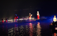 The Liu San Jie performance consists of approximately 500 performers on the waters of the Li River in Yangshuo.