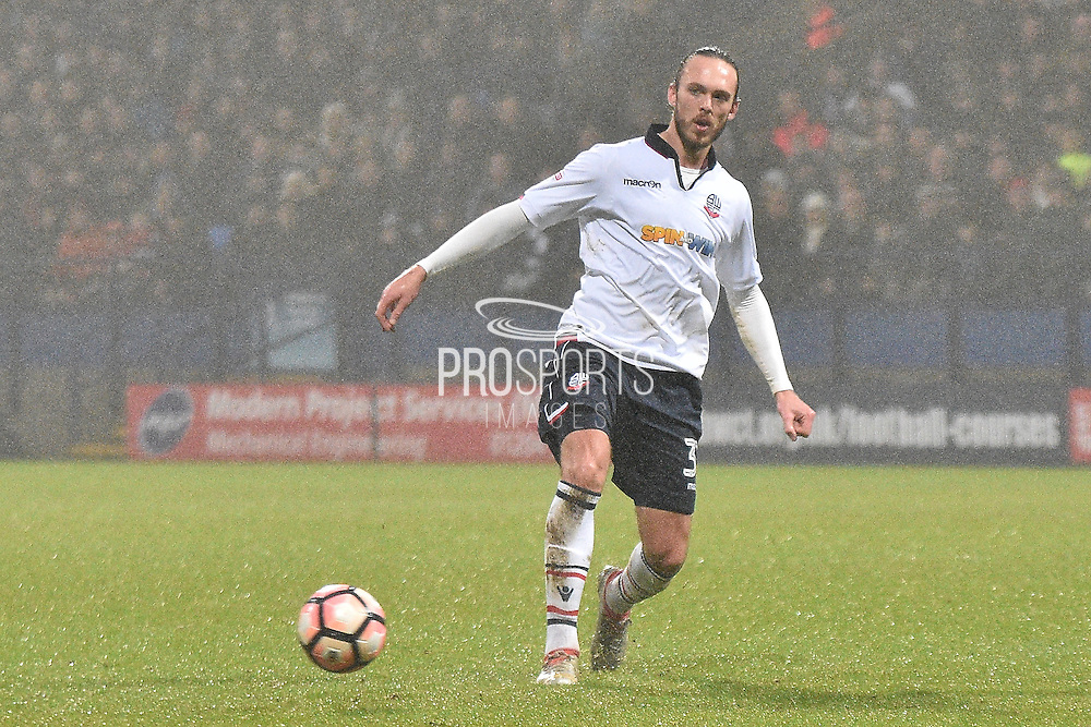 Bolton Wanderers Defender, Tom Thorpe (32) during the The FA Cup 3rd round match between Bolton Wanderers and Crystal Palace at the Macron Stadium, Bolton, England on 7 January 2017. Photo by Mark Pollitt.