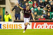 Olly Lee (#8) of Heart of Midlothian celebrates after scoring a goal during the Ladbrokes Scottish Premiership match between Hibernian FC and Heart of Midlothian FC at Easter Road Stadium, Edinburgh, Scotland on 29 December 2018.