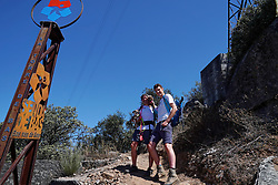 04-09-2019 ESP: WeHike2ChangeDiabetes - Senda de Bas day 4, Ponferrada<br /> A special day at the WeHike2ChangeDiabetes. The Senda de Bas path will be inaugurated today, coinciding with the athlete's birthday, by the statue and nice rock gravity that gets the path. Bas on his path take a look at the path statue and Alberto Díez, Head of the Endocrinology and Nutrition Unit of the GASBI<br />