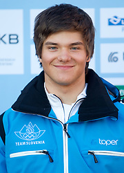Sergij Robic, Alpine Ski team at Official photo of  Slovenia team for  European Youth Olympic Festival (EYOF) in Liberec (CZE) at official presentation, on February  9, 2011 at Bled Castle, Slovenia. (Photo By Vid Ponikvar / Sportida.com)