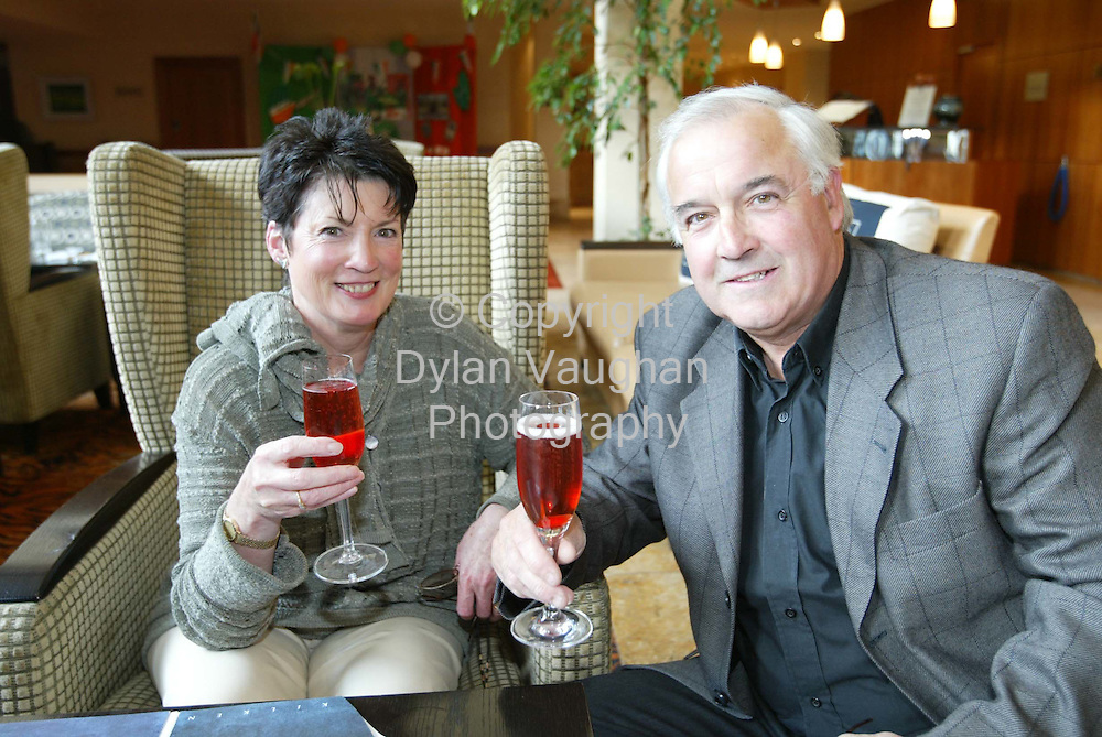 31/5/2002.Pictured at the Savoy Grill Evening at the KIlkenny Ormonde Hotel was from left Eveleen and Gerry Gough..Picture Dylan Vaughan