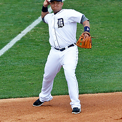 March 14, 2012; Lakeland, FL, USA; Detroit Tigers third baseman Miguel Cabrera (24) against the New York Mets during a spring training game against the New York Metsat Joker Marchant Stadium. Mandatory Credit: Derick E. Hingle-US PRESSWIRE
