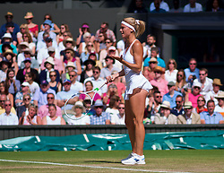 LONDON, ENGLAND - Tuesday, July 10, 2018: Camila Giorgi (ITA) during the Ladies' Singles Quarter-Final match on day eight of the Wimbledon Lawn Tennis Championships at the All England Lawn Tennis and Croquet Club. (Pic by Kirsten Holst/Propaganda)