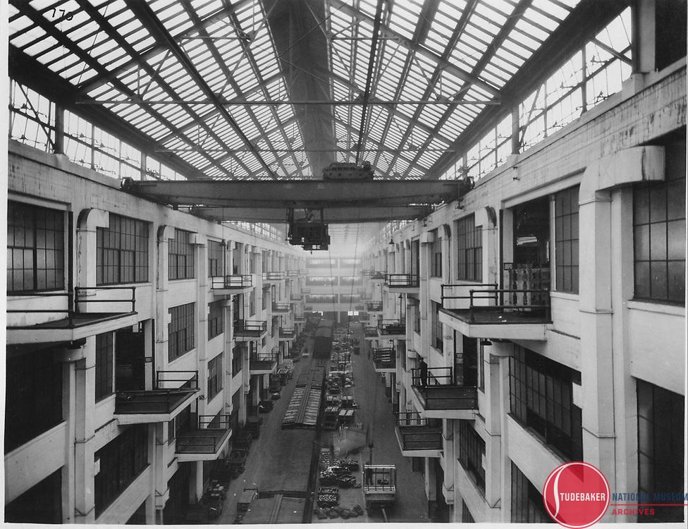 Interior view of Studebaker's building #78 c.1945.