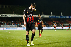 (L-R) Hicham Faik of Excelsior, Levi Garcia of Excelsior during the Dutch Eredivisie match between sbv Excelsior Rotterdam and Heracles Almelo at Van Donge & De Roo stadium on April 18, 2018 in Rotterdam, The Netherlands