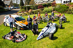 Pictured: Sir Jackie Stweart and the future of motor sport.<br /> <br /> Today Sir Jackie Stewart helped launch a new strategy for motor sport. Sir Jackie was joined by Touring Car champion Gordon Shedden, rally drivers Louise Aitken Walker, Jimmy McRae, Robert Reid, Andrew Cowan and David Bogie, motorcycle racer Rory Skinner, sportscotland chief executive Stewart Harris and Scottish Motor Sport chair Tom Purves. The strategy will include new investment to grow the sport and build on Scotland's rich motor sport heritage. The funding amounts to over £400,000 over four years<br /> <br /> Ger Harley | EEm 10 May April 2016