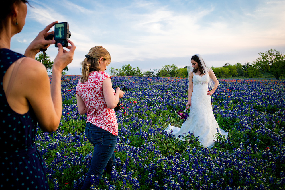 Photo shoot in the bluebonnets, Bastrop County, Texas.