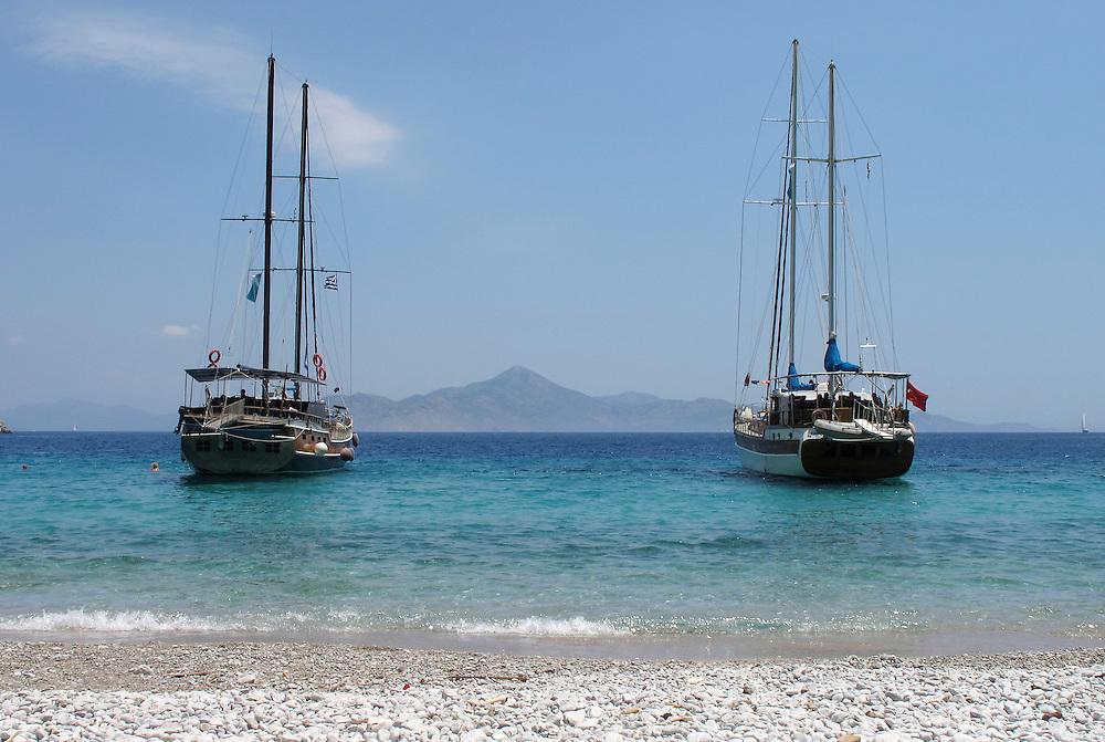 Agios Georgios beach, Simi Island, Dodokanese, Greece