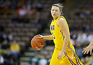 January 27 2010: Iowa forward Kalli Hansen (3) with the ball during the first half of an NCAA women's college basketball game at Carver-Hawkeye Arena in Iowa City, Iowa on January 27, 2010. Iowa defeated Michigan State 66-64.
