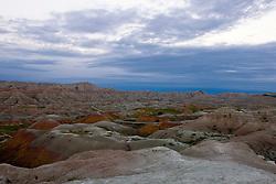 Colorful rock formations, Badlands National Park, South Dakota, United States of America