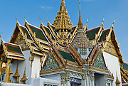 The cruciform (cross shaped) Dusit Maha Prasat throne hall in Bangkok, Thailand, was built by King Rama I in 1790. Ever since then, this hall has hosted the lying-in-state of kings, queens and honored members of the royal family.  It also supports the annual Coronation Day ceremony.