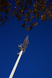 MARIBOR, SLOVENIA - Monday, October 16, 2017: A floodlight at NK Maribor's Stadion Ljudski vrt ahead of the UEFA Champions League Group E match between NK Maribor and Liverpool. (Pic by David Rawcliffe/Propaganda)