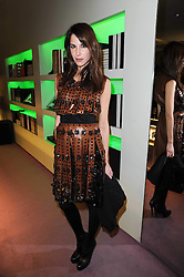 CAROLINE SIEBER at a party hosted by Prada to celebrate launch of a book documenting the company's diverse projects in fashion, architecture, film and art held at their store 16/18 Old Bond Street, London on 19th November 2009.