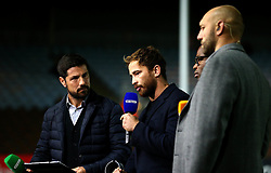 Danny Cipriani of Wasps helps present BT Sports Live coverage of the Harlequins v Sale Sharks Premiership fixture - Mandatory by-line: Robbie Stephenson/JMP - 06/10/2017 - RUGBY - Twickenham Stoop - London, England - Harlequins v Sale Sharks - Aviva Premiership