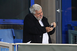 28th September 2017 - UEFA Europa League - Group E - Everton v Apollon Limassol - Football agent Paul Stretford, responsible for Wayne Rooney of Everton, looks through his wallet as he talks on his mobile phone - Photo: Simon Stacpoole / Offside.