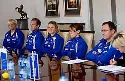 Jost Zakrajsek, Nejc Znidarcic, Spela Ponomarenko, Lucka Cankar and Andrej Jelenc at press conference of Kayak and Canoe Federation of Slovenia, on November 12, 2009, in Arena Tivoli, Ljubljana, Slovenia.  (Photo by Vid Ponikvar / Sportida)