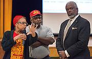 First 2012 bond community meeting at Yates High School, September 16, 2014.
