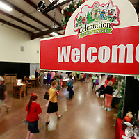 Thomas Wells   BUY AT PHOTOS.DJOURNAL.COM<br /> Customers begin to make their way through the Tupelo Furniture Market on Thursday as the annual Celebration Village fund raiser gets underway.
