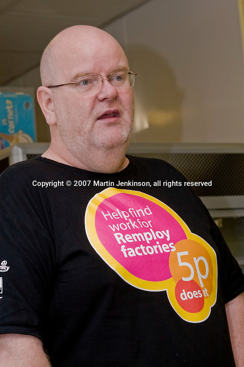 Phil Brannan, Scotland, speaking on the Remploy Crusade for Disabled Workers Jobs 2007...© Martin Jenkinson, tel 0114 258 6808 mobile 07831 189363 email martin@pressphotos.co.uk. Copyright Designs & Patents Act 1988, moral rights asserted credit required. No part of this photo to be stored, reproduced, manipulated or transmitted to third parties by any means without prior written permission