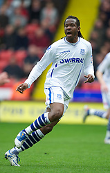 SHEFFIELD, ENGLAND - Saturday, March 17, 2012: Tranmere Rovers' Joss Labadie in action against Sheffield United during the Football League One match at Bramall Lane. (Pic by David Rawcliffe/Propaganda)