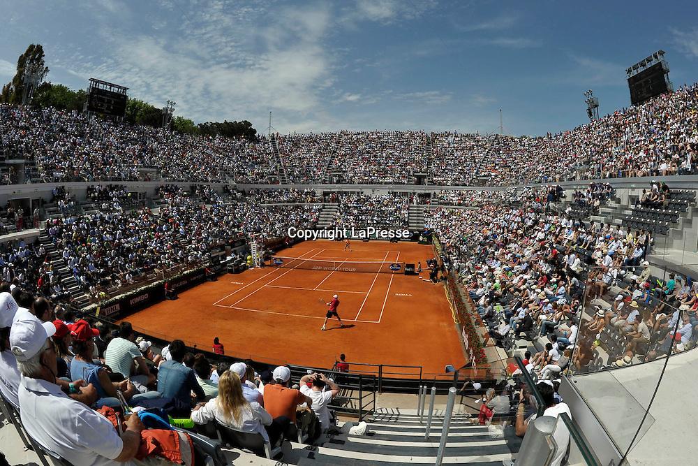 Foto Alfredo Falcone - LaPresse<br /> 18/05/2012 Roma ( Italia)<br /> Sport Tennis<br /> Tomas Berdych (CZE) - Rafael Nadal (ESP)Internazionali BNL d'Italia 2012<br /> Nella foto:Panoramica dello stadio centrale<br /> Tomas Berdych (CZE) - Rafael Nadal (ESP)<br /> Photo Alfredo Falcone - LaPresse<br /> 18/05/2012 Roma (Italy)<br /> Sport Tennis<br /> Internazionali BNL d'Italia 2012<br /> In the pic:overview of the stadium