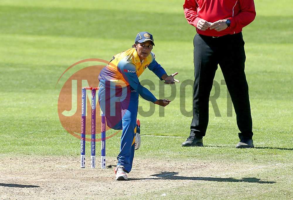 Shashikala Siriwardena of Sri Lanka Women bowls in her cap - Mandatory by-line: Robbie Stephenson/JMP - 02/07/2017 - CRICKET - County Ground - Taunton, United Kingdom - England Women v Sri Lanka Women - ICC Women's World Cup Group Stage